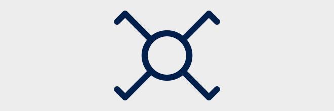 Kruisschakelaar - Eendraadschema symbolen
