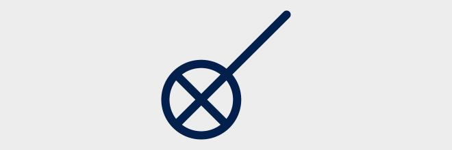 Schakelaar met Verklikkerlamp - Eendraadschema symbolen