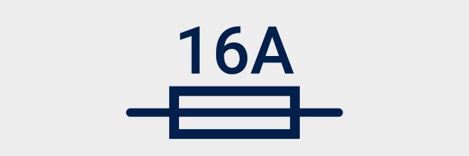 Smeltveiligheid 16A - Eendraadschema symbolen